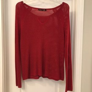 NWT Rag & Bone Dark Red Knit Sweater Size XS